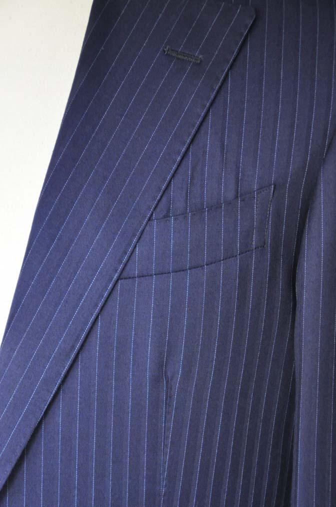 DSC03331 お客様のスーツの紹介-御幸毛織 NAPOLENA ネイビーストライプ-