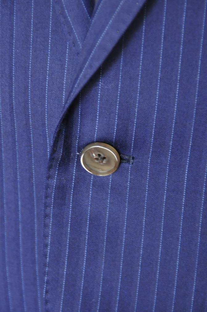 DSC0334 お客様のスーツの紹介-御幸毛織 NAPOLENA ネイビーストライプ-