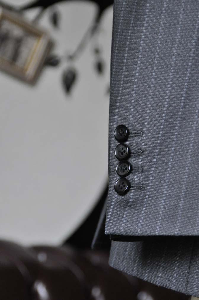 DSC0335-3 お客様のスーツの紹介-Ermenegild Zegnaグレーストライプ スリーピース- 名古屋の完全予約制オーダースーツ専門店DEFFERT