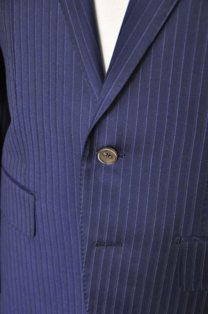 DSC03352 お客様のスーツの紹介-御幸毛織 NAPOLENA ネイビーストライプ-