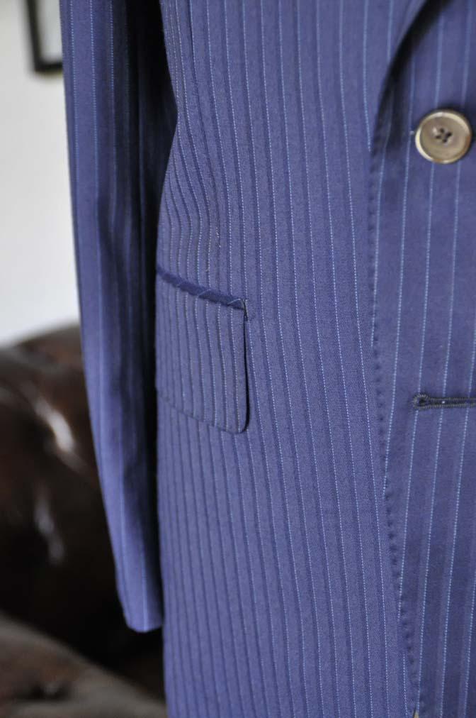 DSC03362 お客様のスーツの紹介-御幸毛織 NAPOLENA ネイビーストライプ-