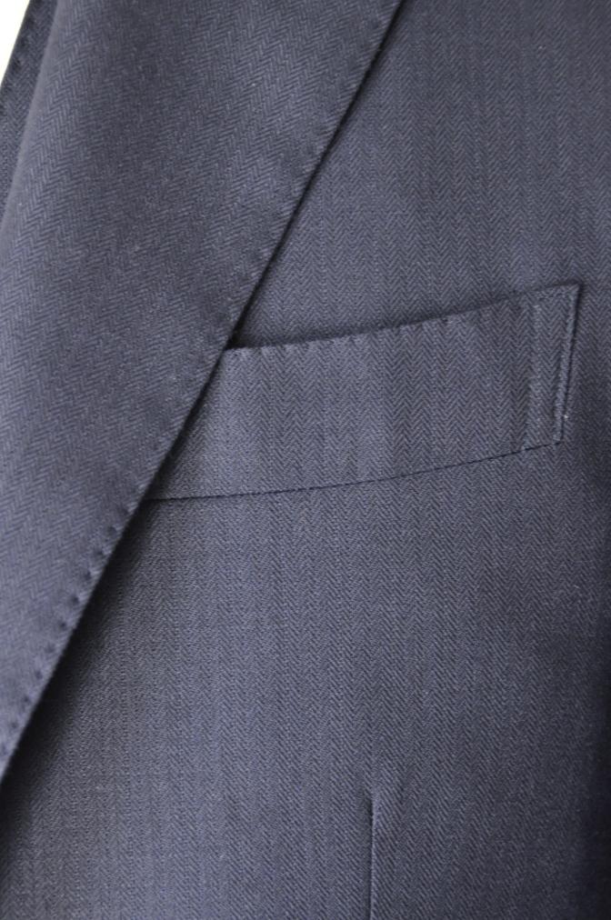 DSC03392 お客様のスーツの紹介-ネイビーヘリンボーンスリーピース- 名古屋の完全予約制オーダースーツ専門店DEFFERT
