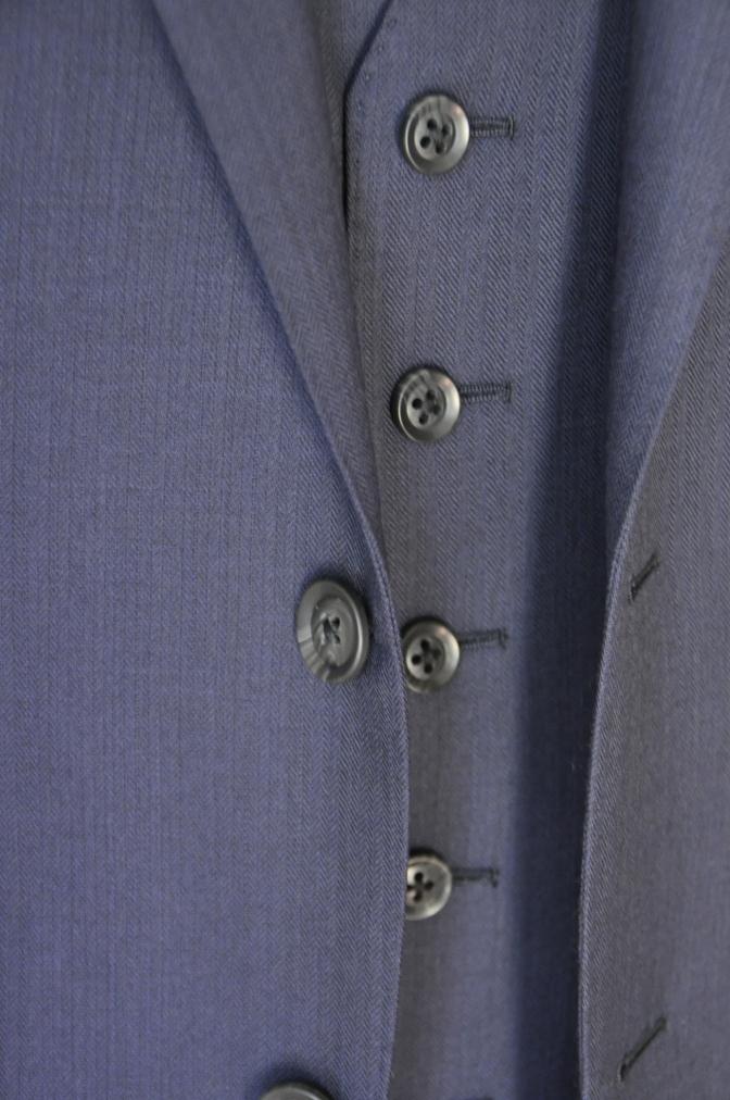 DSC03403 お客様のスーツの紹介-ネイビーヘリンボーンスリーピース-