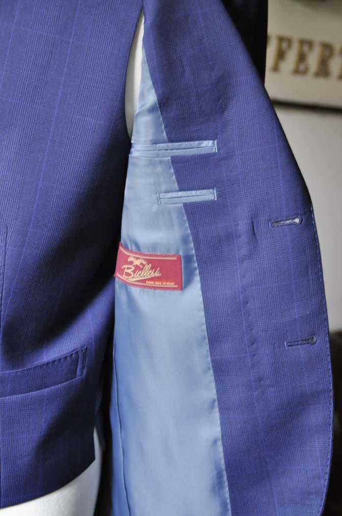 DSC0345-1 お客様のスーツの紹介- Biellesi ネイビーチェックスリーピース-