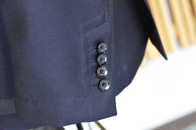 DSC0346-4 オーダージャケットの紹介-MARLANEダークネイビーホップサックジャケット-