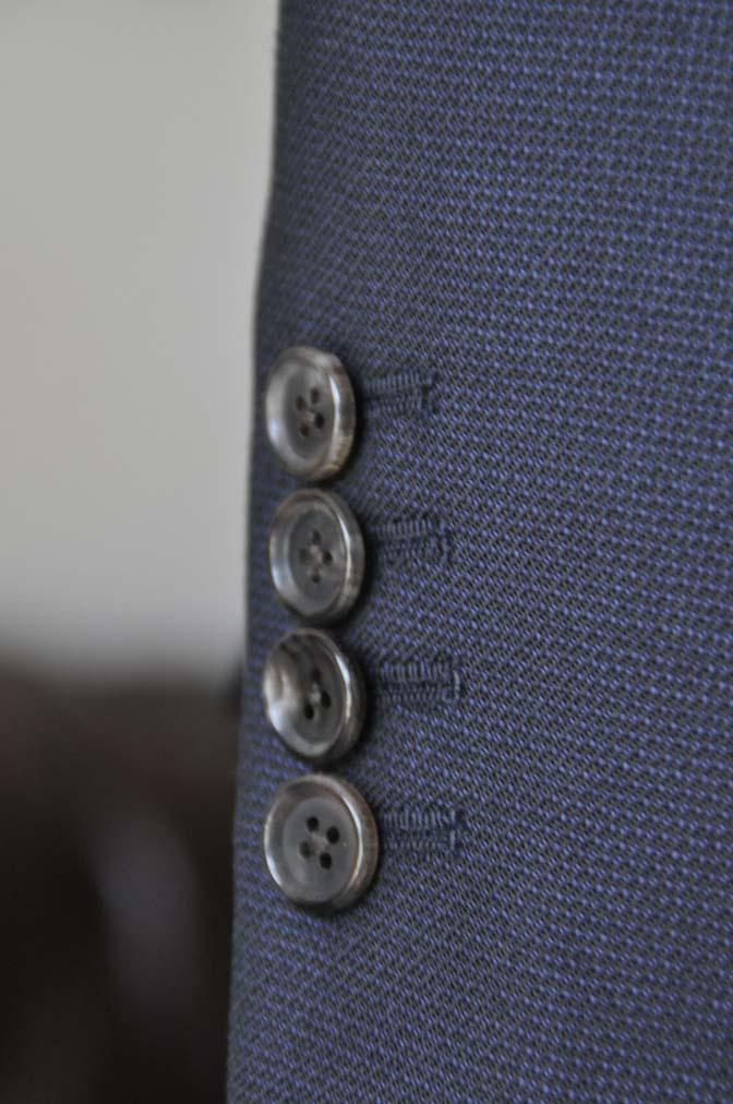 DSC03475 お客様のスーツの紹介- DUGDALE 無地ネイビースリーピーススーツ-