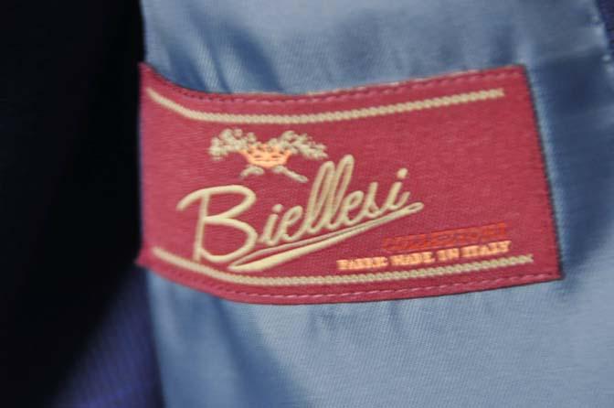 DSC0348-1 お客様のスーツの紹介- Biellesi ネイビーチェックスリーピース-