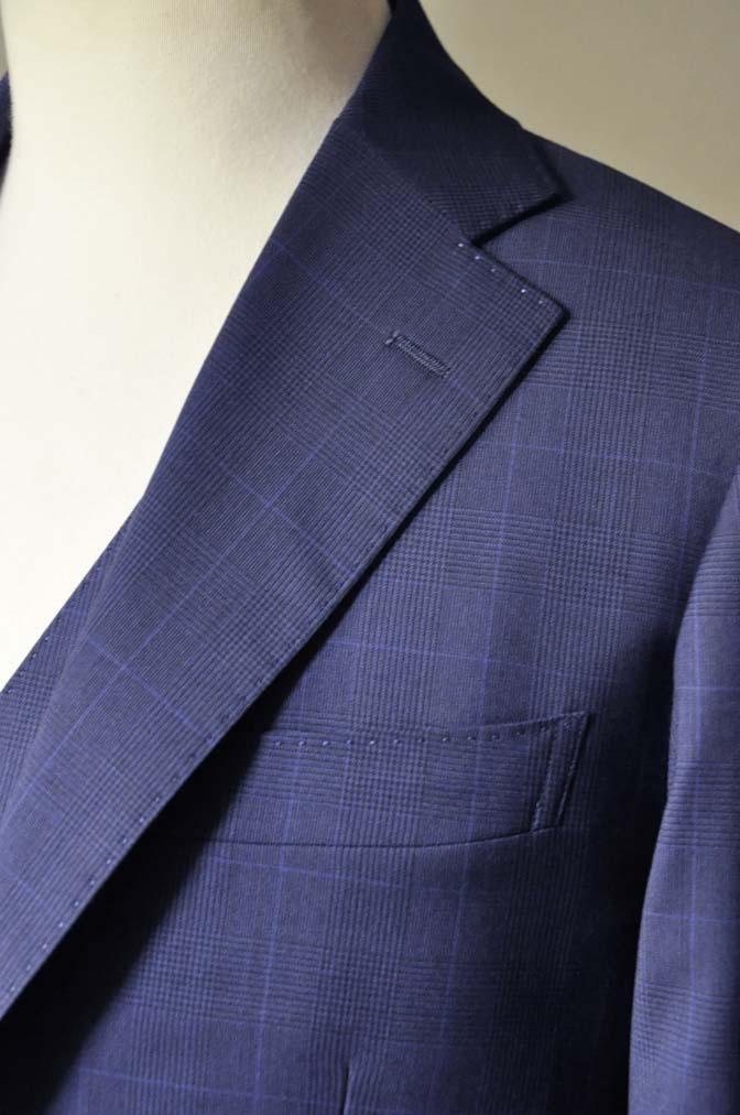 DSC0349-1 お客様のスーツの紹介- Biellesi ネイビーチェックスリーピース-