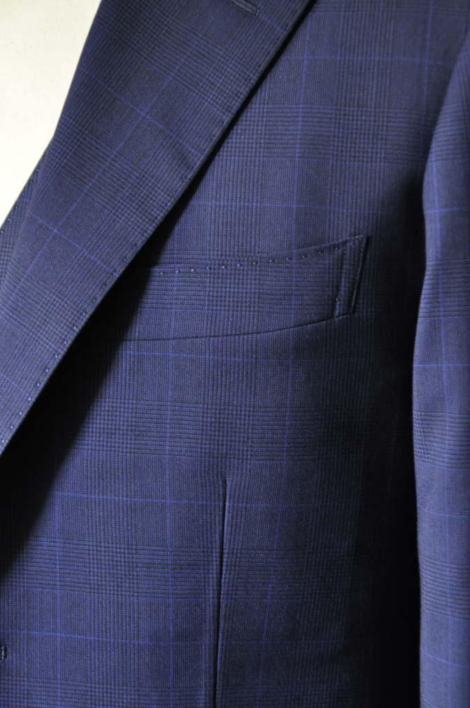 DSC0350-1 お客様のスーツの紹介- Biellesi ネイビーチェックスリーピース-