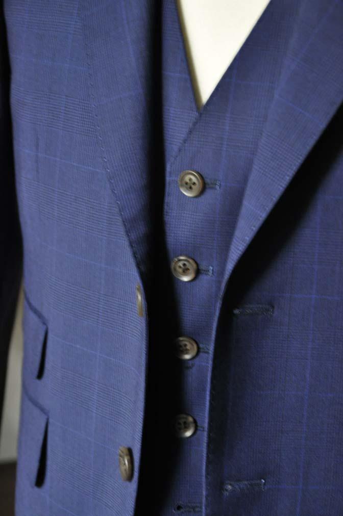 DSC0351-1 お客様のスーツの紹介- Biellesi ネイビーチェックスリーピース-