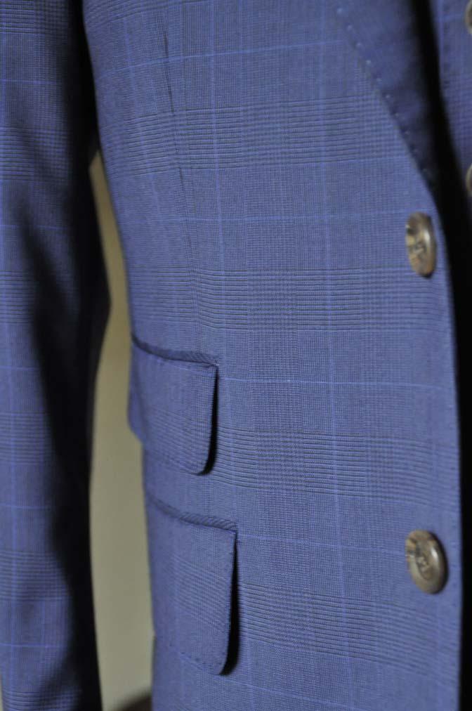 DSC0352-1 お客様のスーツの紹介- Biellesi ネイビーチェックスリーピース-