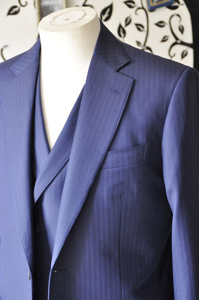 DSC0356-2 お客様のスーツの紹介-CANONICOネイビーダブルジレスリーピース-