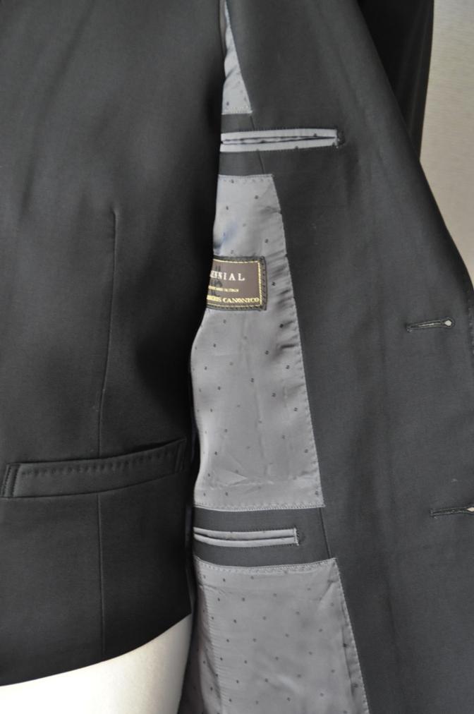 DSC03564 お客様のスーツの紹介-CANONICO ブラックスリーピース- 名古屋の完全予約制オーダースーツ専門店DEFFERT
