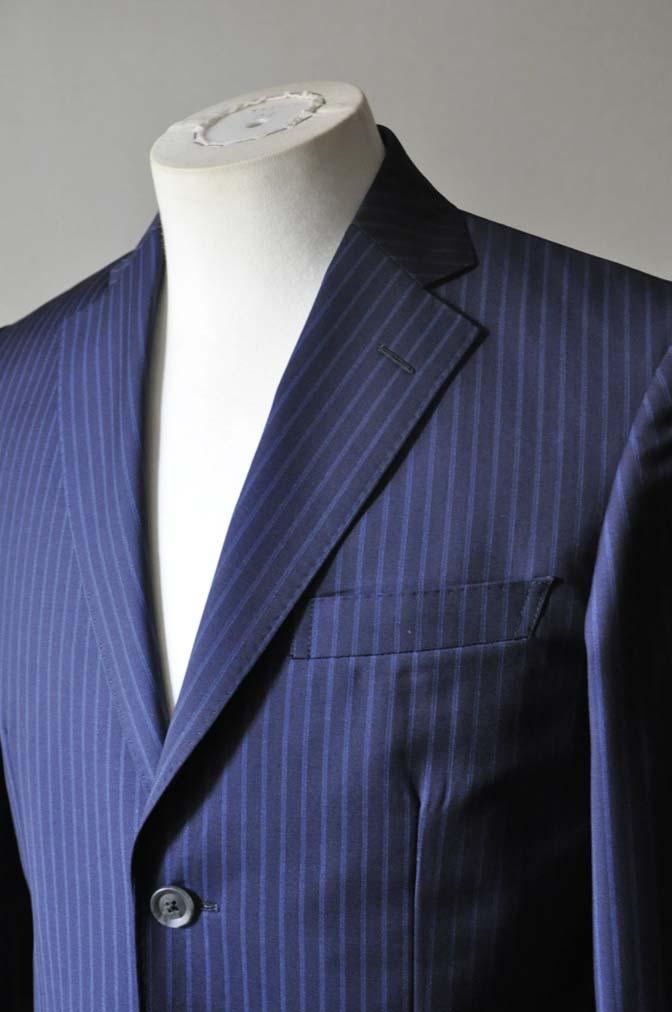 DSC0359-2 お客様のスーツの紹介- CANONICOネイビーストライプ- 名古屋の完全予約制オーダースーツ専門店DEFFERT