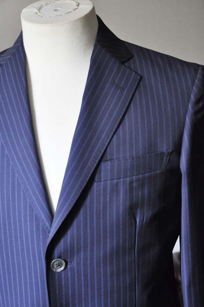 DSC0360-2 お客様のスーツの紹介- CANONICOネイビーストライプ- 名古屋の完全予約制オーダースーツ専門店DEFFERT