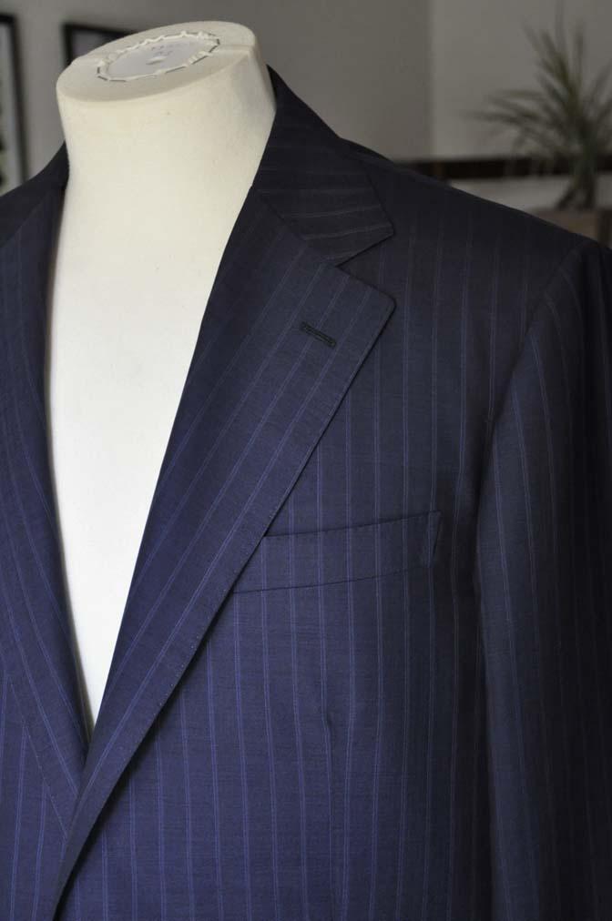 DSC03603 お客様のスーツの紹介-御幸毛織 SHALICK ネイビーストライプ-