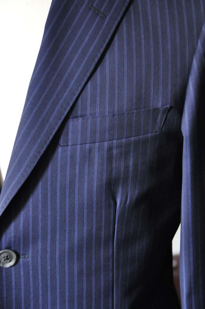 DSC0361-2 お客様のスーツの紹介- CANONICOネイビーストライプ- 名古屋の完全予約制オーダースーツ専門店DEFFERT