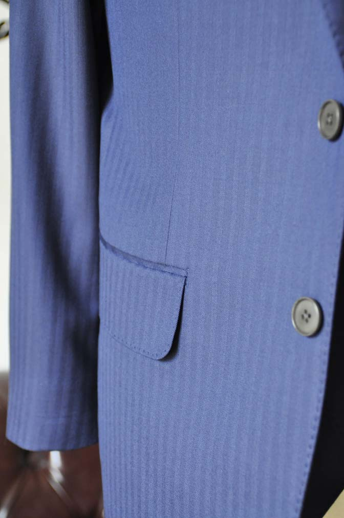 DSC0361-4 お客様のスーツの紹介-CANONICOネイビーダブルジレスリーピース-