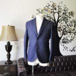 お客様のジャケットの紹介-CANONICO ネイビージャケット-