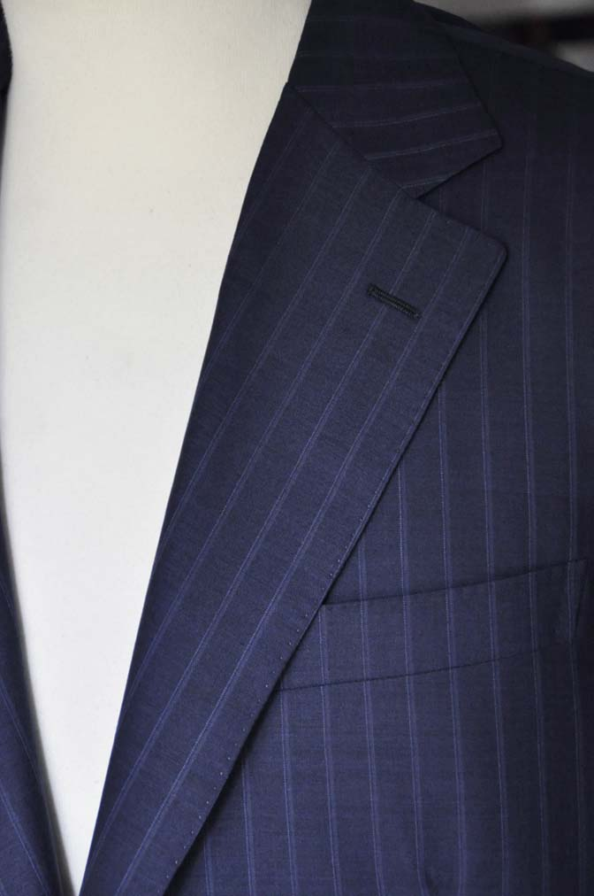 DSC0361 お客様のスーツの紹介-御幸毛織 SHALICK ネイビーストライプ-