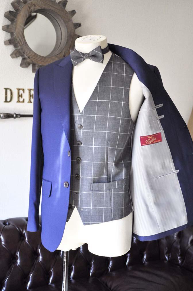 DSC0362-1 お客様のウエディング衣装の紹介-Biellesi ネイビースーツ グレーチェックベスト-DSC0362-1 お客様のウエディング衣装の紹介-Biellesi ネイビースーツ グレーチェックベスト- 名古屋市のオーダータキシードはSTAIRSへ