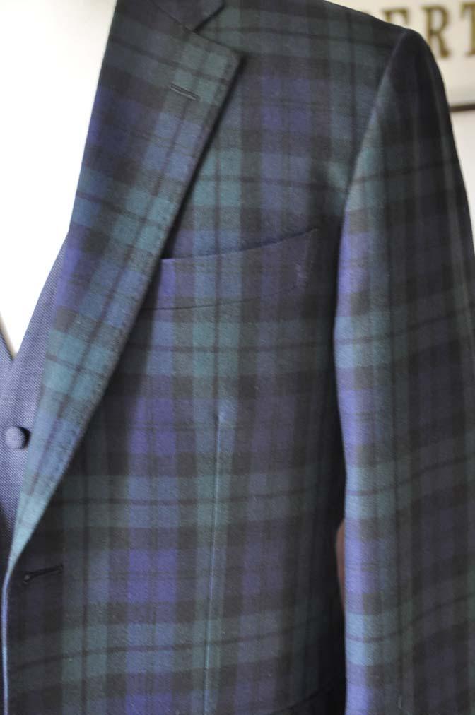 DSC0362-3 お客様のウエディング衣装の紹介- ブラックウォッチスーツ ネイビーベスト-
