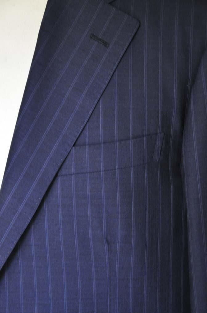 DSC03621 お客様のスーツの紹介-御幸毛織 SHALICK ネイビーストライプ-
