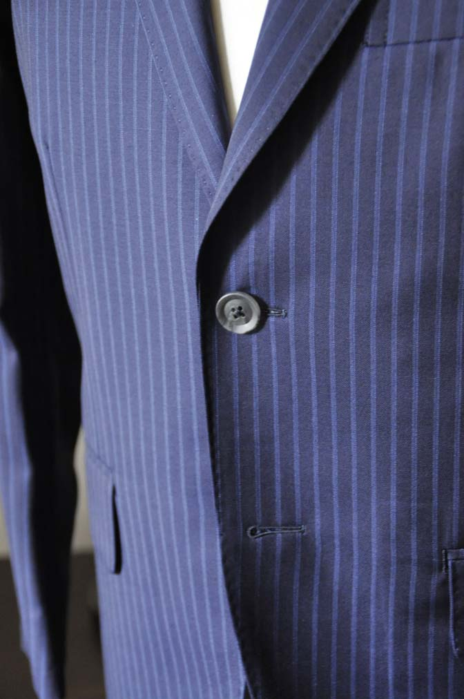 DSC0363-2 お客様のスーツの紹介- CANONICOネイビーストライプ- 名古屋の完全予約制オーダースーツ専門店DEFFERT