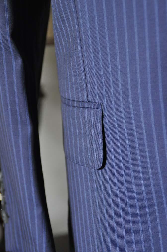 DSC0364-5 お客様のスーツの紹介- CANONICOネイビーストライプ- 名古屋の完全予約制オーダースーツ専門店DEFFERT