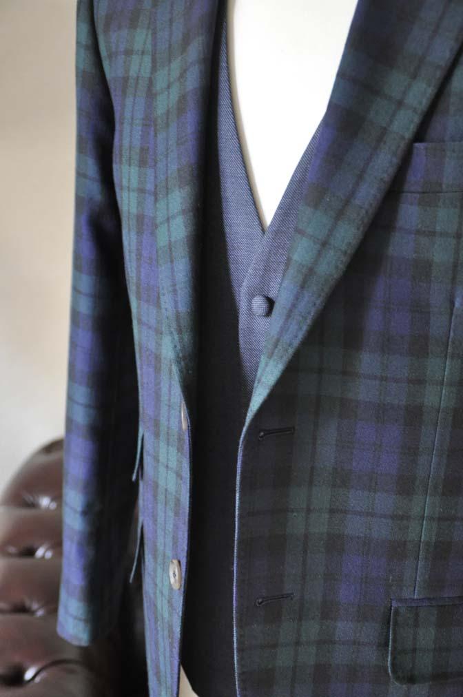 DSC0364-6 お客様のウエディング衣装の紹介- ブラックウォッチスーツ ネイビーベスト-