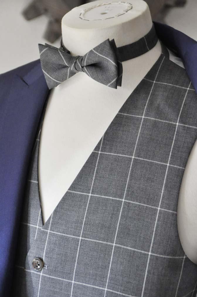 DSC0365-1 お客様のウエディング衣装の紹介-Biellesi ネイビースーツ グレーチェックベスト-DSC0365-1 お客様のウエディング衣装の紹介-Biellesi ネイビースーツ グレーチェックベスト- 名古屋市のオーダータキシードはSTAIRSへ