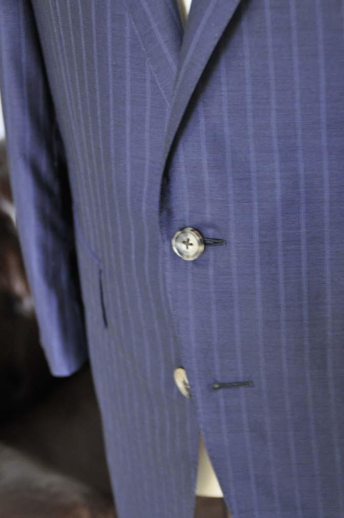 DSC03653 お客様のスーツの紹介-御幸毛織 SHALICK ネイビーストライプ-