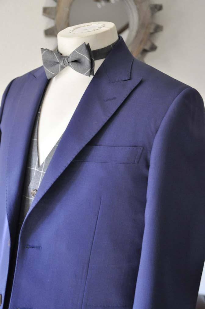 DSC0366-1 お客様のウエディング衣装の紹介-Biellesi ネイビースーツ グレーチェックベスト-DSC0366-1 お客様のウエディング衣装の紹介-Biellesi ネイビースーツ グレーチェックベスト- 名古屋市のオーダータキシードはSTAIRSへ