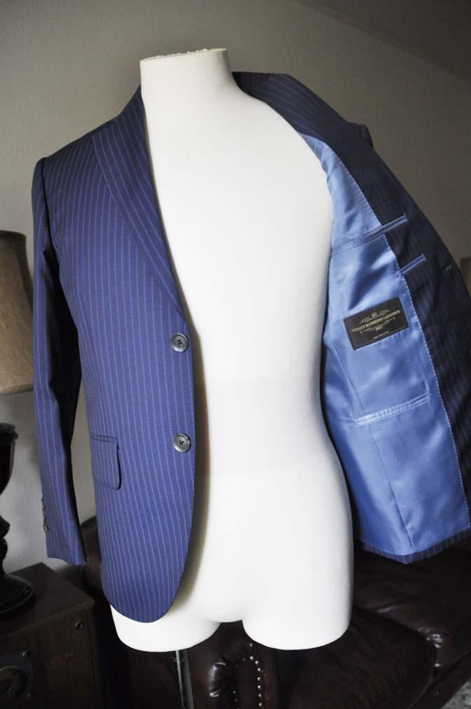 DSC0367-4 お客様のスーツの紹介- CANONICOネイビーストライプ- 名古屋の完全予約制オーダースーツ専門店DEFFERT