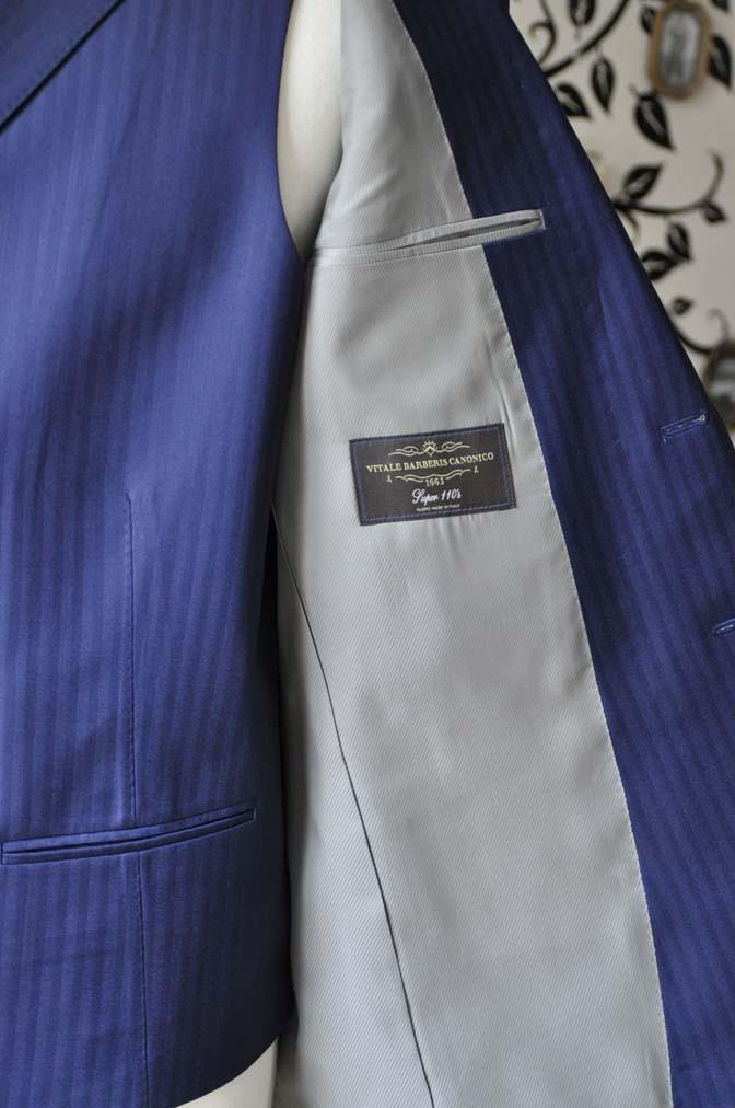 DSC0367-5 お客様のスーツの紹介-CANONICOネイビーダブルジレスリーピース-