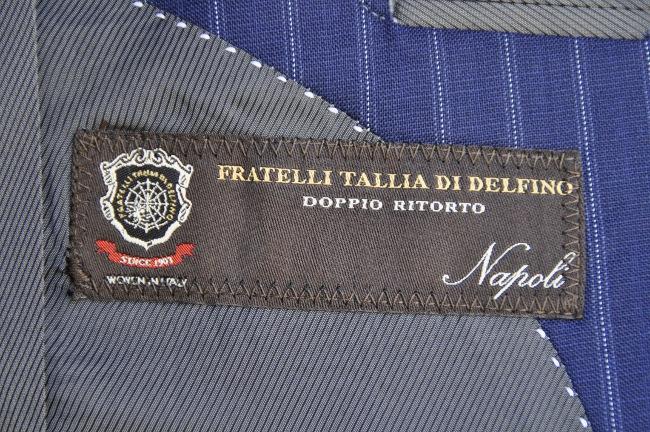 DSC0367 オーダースーツ-TALLIA DI DELFINOネイビーストライプ-