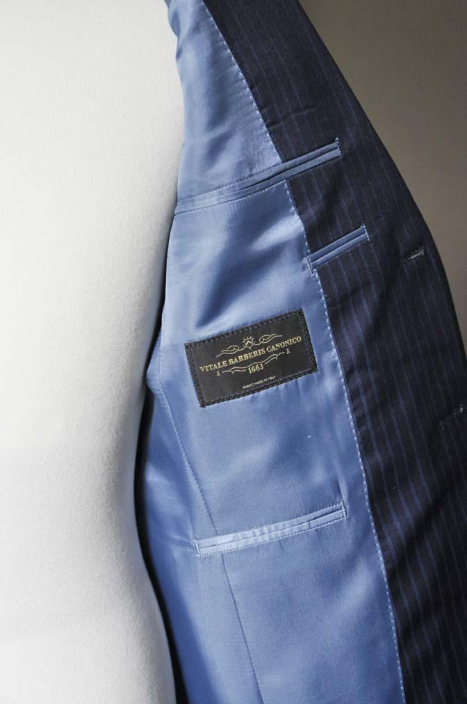 DSC0368-3 お客様のスーツの紹介- CANONICOネイビーストライプ- 名古屋の完全予約制オーダースーツ専門店DEFFERT