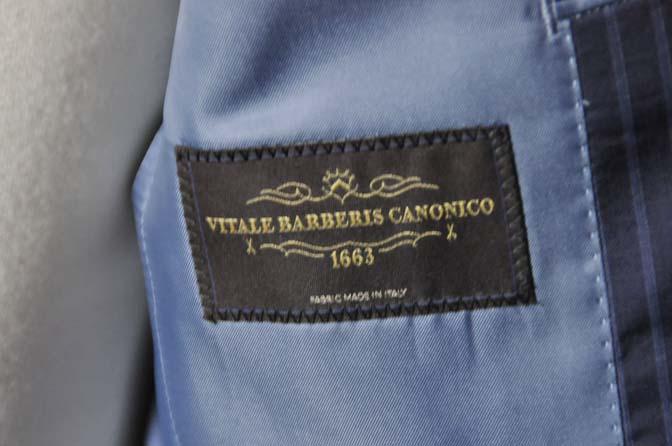 DSC0369-2 お客様のスーツの紹介- CANONICOネイビーストライプ- 名古屋の完全予約制オーダースーツ専門店DEFFERT