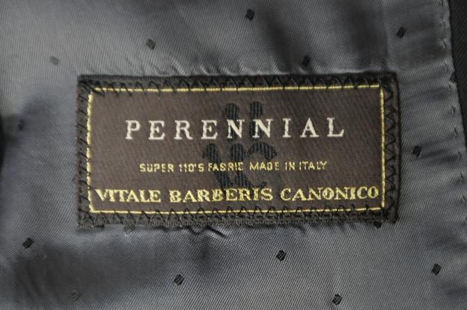DSC03731 お客様のスーツの紹介-CANONICO ブラックスリーピース-