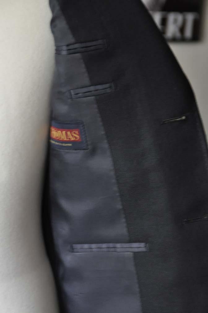 DSC03753 お客様のジャケットの紹介-E.THOMAS 無地ネイビーツイル ジャケット-