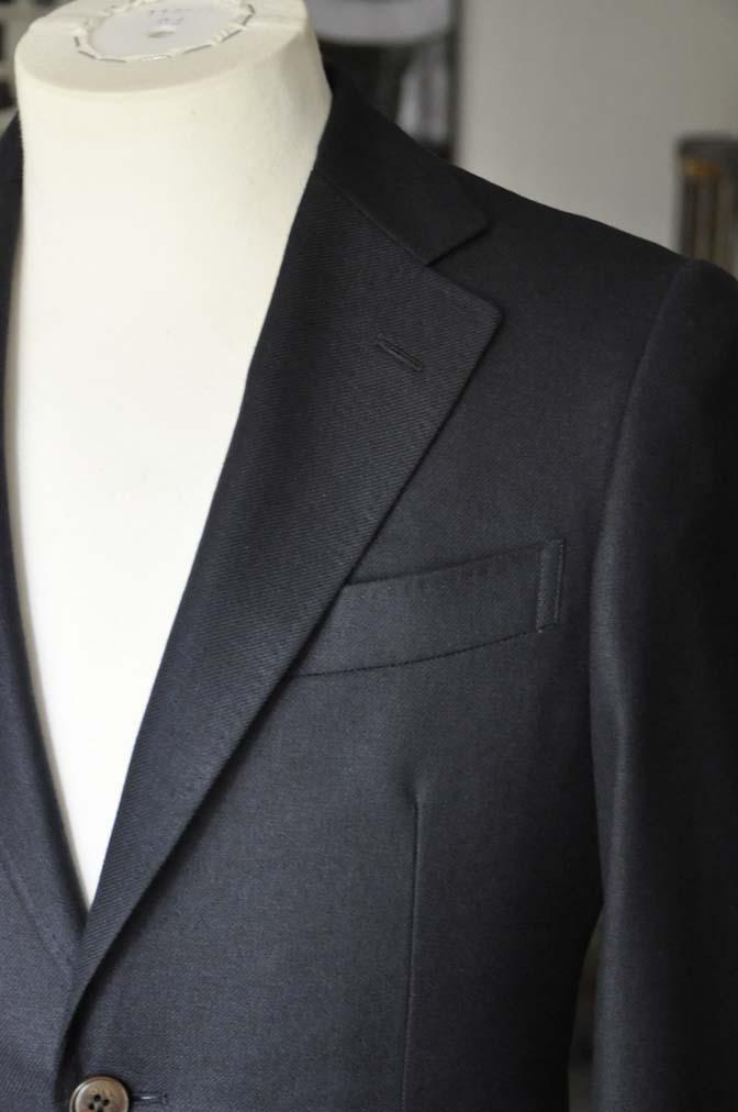 DSC03781 お客様のジャケットの紹介-E.THOMAS 無地ネイビーツイル ジャケット-