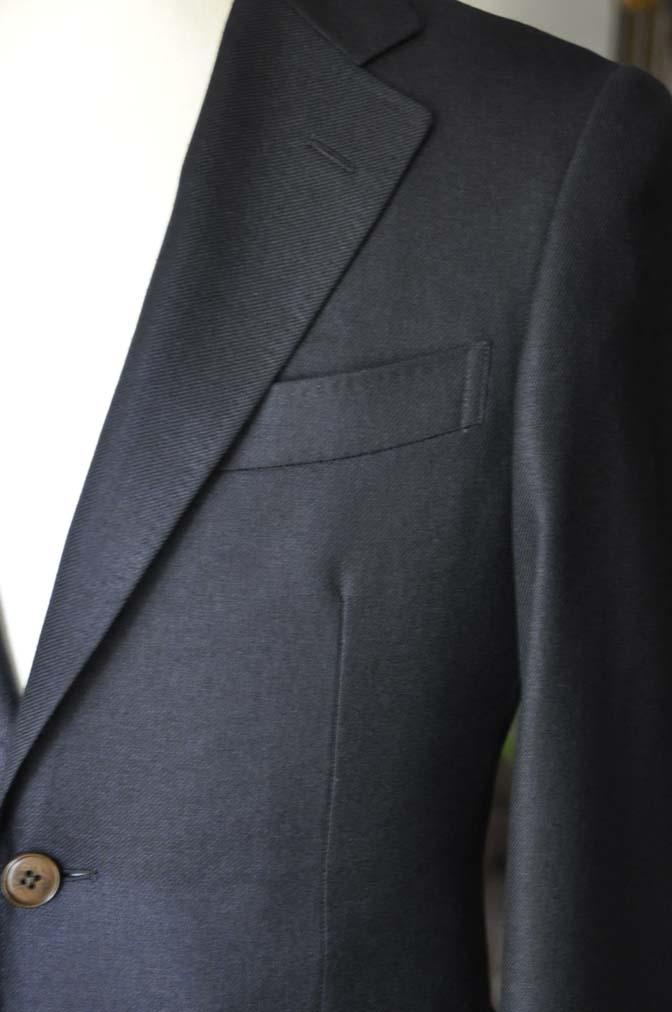 DSC03792 お客様のジャケットの紹介-E.THOMAS 無地ネイビーツイル ジャケット-