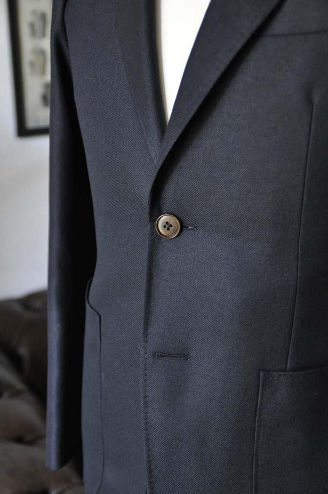 DSC03801 お客様のジャケットの紹介-E.THOMAS 無地ネイビーツイル ジャケット-