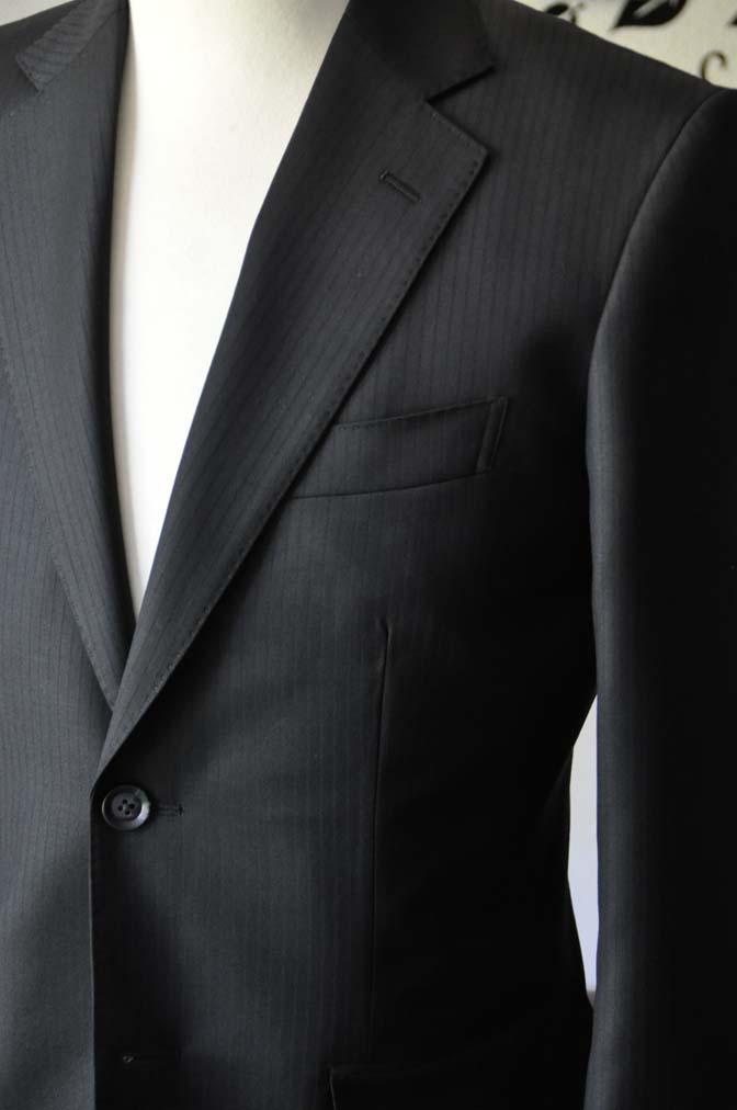 DSC0382-6 お客様のスーツの紹介-Biellesiブラックシャドーストライプスーツ- 名古屋の完全予約制オーダースーツ専門店DEFFERT