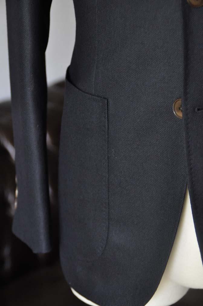 DSC03821 お客様のジャケットの紹介-E.THOMAS 無地ネイビーツイル ジャケット-