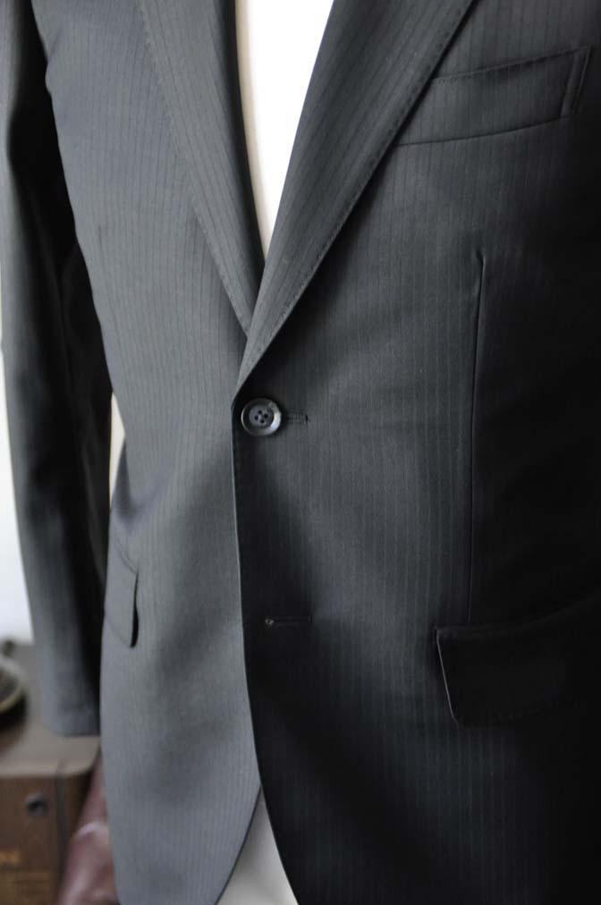 DSC0383-4 お客様のスーツの紹介-Biellesiブラックシャドーストライプスーツ- 名古屋の完全予約制オーダースーツ専門店DEFFERT