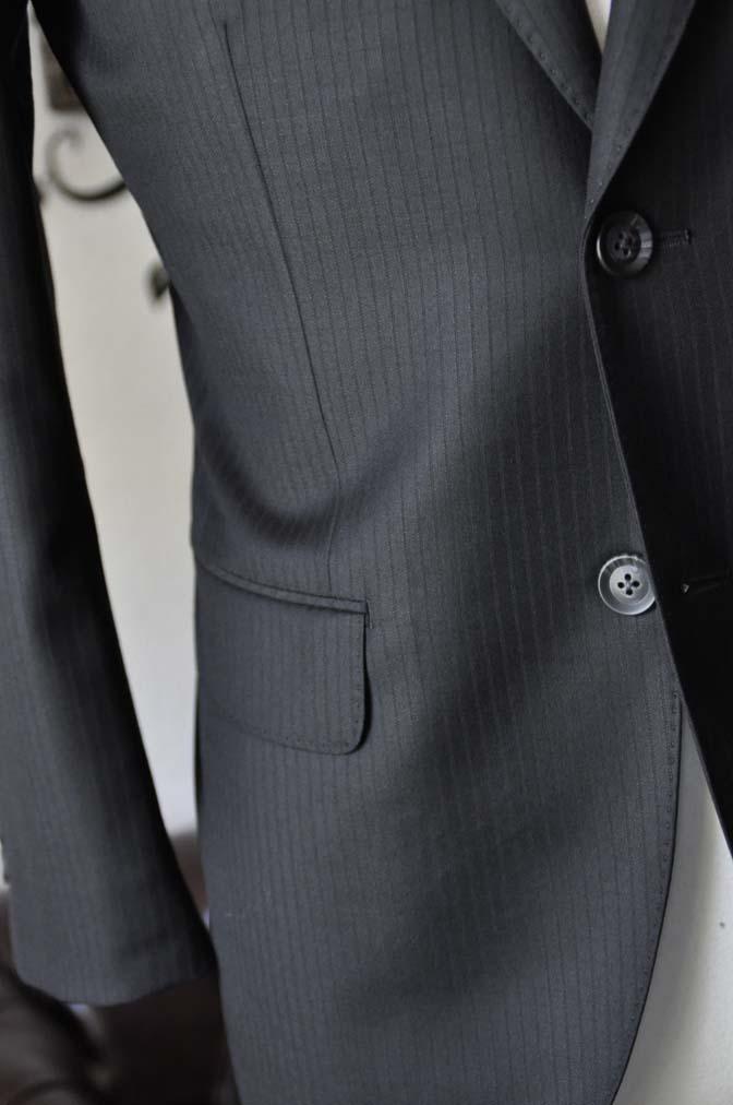 DSC0384-3 お客様のスーツの紹介-Biellesiブラックシャドーストライプスーツ- 名古屋の完全予約制オーダースーツ専門店DEFFERT