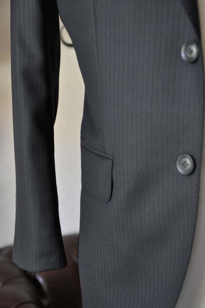 DSC0385-7 お客様のスーツの紹介-Biellesiブラックシャドーストライプスーツ- 名古屋の完全予約制オーダースーツ専門店DEFFERT