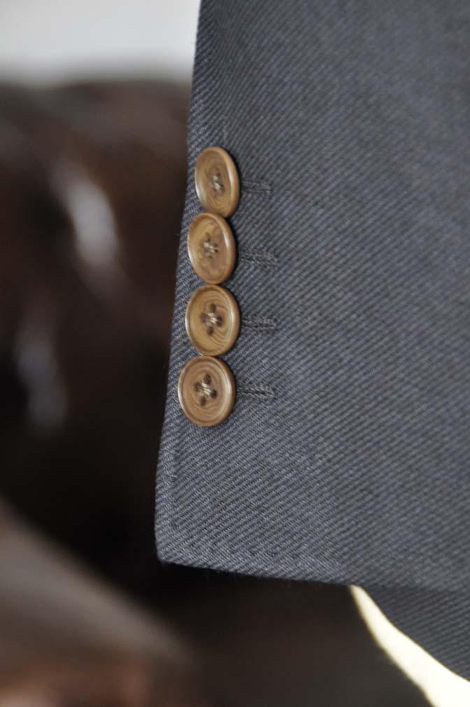 DSC0385 お客様のジャケットの紹介-E.THOMAS 無地ネイビーツイル ジャケット-