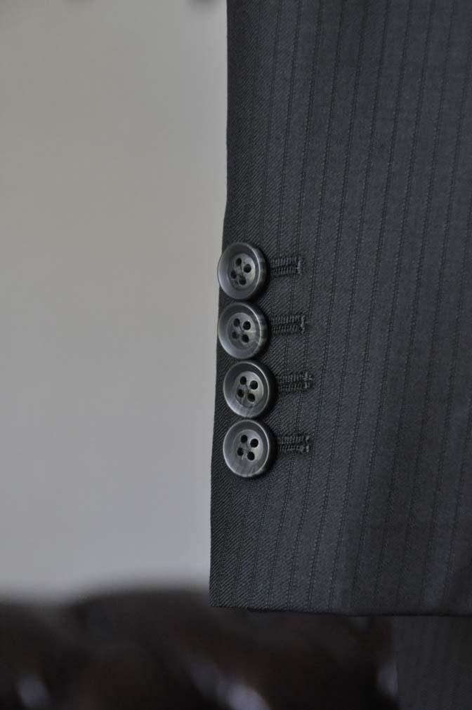 DSC0386-5 お客様のスーツの紹介-Biellesiブラックシャドーストライプスーツ- 名古屋の完全予約制オーダースーツ専門店DEFFERT